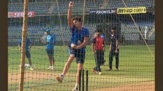 Virat Kohli faces Arjun Tendulkar during practice session of India vs New Zealand series