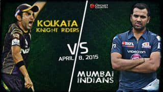 Live Cricket Score Kolkata Knight Riders vs Mumbai Indians IPL 2015 Match 1 at Eden Gardens, KKR 170/3 in 18.3 overs: KKR win by 7 wickets