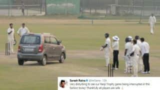 Ranji Trophy 2017-18: Suresh Raina, Ishant Sharma express disappointment after man drives car onto pitch
