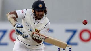 Kumar Sangakkara slams maiden triple-century; Sri Lanka finish on 587 at tea on Day 2, 2nd Test