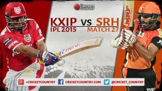 Kings XI Punjab vs Sunrisers Hyderabad IPL 2015 Match 27 Preview: Struggling sides look to gain momentum
