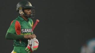 India vs Bangladesh 1st ODI: Mushfiqur Rahim dismissed by Parvez Rasool; score 145/4 in 32 overs