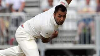 VIDEO: Stuart Binny removes Angelo Mathews, gets his 1st Test wicket