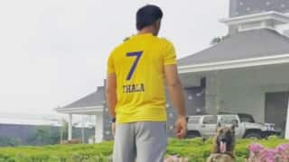 MS Dhoni wears special CSK jersey to celebrate team's return to IPL