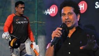 ICC World Cup 2019: MS Dhoni should bat at No 5, says Sachin Tendulkar