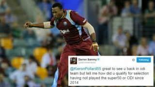 Darren Sammy, Chris Gayle question Kieron Pollard over his selection in West Indies squad