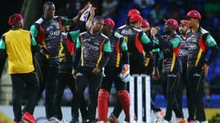 CPL 2017: St Kitts and Nevis Patriots beat Barbados Tridents by 17 runs; Kieron Pollard's fifty in vain