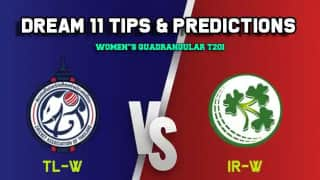 Dream11 Team Thailand women vs Ireland women Match WOMEN'S T20I QUADRANGULAR SERIES 2019 – Cricket Prediction Tips For Today's T20 Match TL-W vs IR-W at Deventer