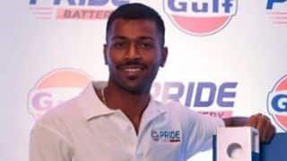 Hardik Pandya added to Baroda squad for Ranji Trophy tie against Mumbai