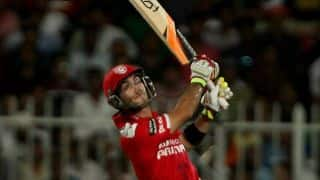 Glenn Maxwell dismissed for 12 against Mumbai Indians in Match 25 of IPL 2015