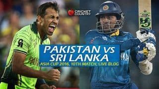 PAK 151/4 in overs 19.2 | Target 151 | Live Cricket Score Pakistan vs Sri Lanka, Asia Cup 2016 PAK vs SL, 10th T20 Match at Dhaka; Pakistan beat Sri Lanka by 6 wickets