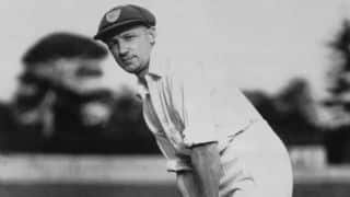 Don Bradman plays his final innings in England
