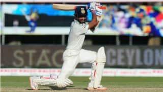 भारत-दक्षिण अफ्रीका टेस्ट के दूसरे दिन अजिंक्य रहाणे ने भारतीय सरजमीं पर लगाया अपना पहला शतक