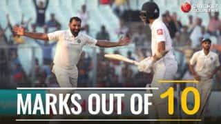 IND vs SL 2017-18, 1st Test at Eden Gardens: Marks out of 10