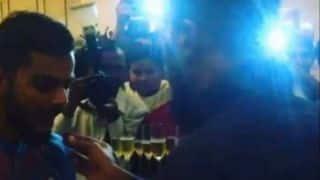 T20 World Cup 2016: Virat Kohli celebrates beating Australia with champagne and cake