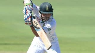 Dean Elgar scores his third Test half-century