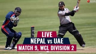 Live Cricket Score, Nepal vs UAE, ICC World Cricket League Division 2, Match 9: Nepal win by 4 wickets