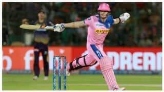 स्मिथ ने खेली 73 रन की नाबाद पारी, कोलकाता ने राजस्थान को 139 रन पर रोका