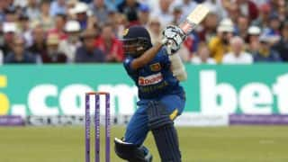 Mendis' fifty takes SL to 127-1 vs ENG as rain stops play