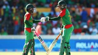 Mushfiqur, Shakib take Bangladesh to 267 against Afghanistan