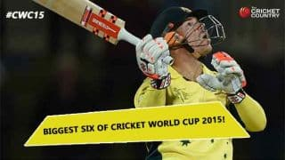 Video: Biggest six of ICC Cricket World Cup 2015?