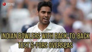 Indian bowlers with back-to-back 5-fors in overseas Tests
