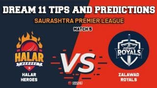 Dream11 Prediction: HH vs ZR Team Best Players to Pick for Today's Match between Halar Heroes and Zalawad Royals at 3:30 PM