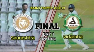 Ranji Trophy 2018-19 final, day 1: Unadkat removes Jaffer, Saurashtra take top honours
