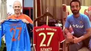 बेयर्न म्यूनिक के स्टार फुटबॉलर अर्जेन रॉबिन ने अजिंक्य रहाणे को दिया खास तोहफा