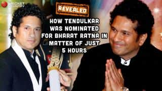 Revealed: How Sachin Tendulkar was nominated for Bharat Ratna in matter of just 5 hours!
