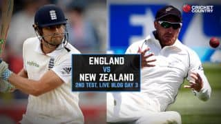 Live Cricket Score England vs New Zealand 2015, 2nd Test at Headingley, Day 3, NZ 338/6 after 75 overs:Watling ton puts NZ on top