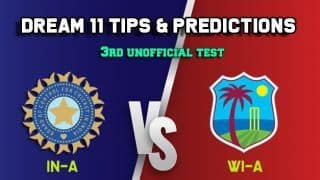 Dream11 Team India A vs West Indies A 3rd unofficial Test – Cricket Prediction Tips For Today's Test Match IN-A vs WI-A at Trinidad