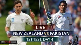 Live Cricket Score, New Zealand vs Pakistan, 1st Test Day 4 at Christchurch: NZ win by 8 wickets