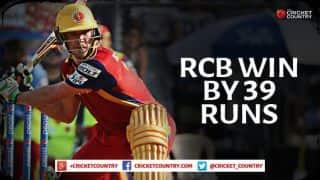 Royal Challengers Bangalore trounce Mumbai Indians by 39 runs in IPL 2015 Match 46 at Mumbai