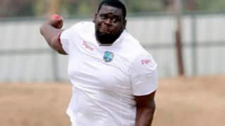 West Indies' Rakheem Cornwall could become the heaviest cricketer to play Test cricket