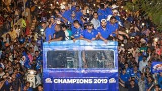IPL 2019 champions Mumbai Indians parade south Mumbai to celebrate record fourth title with fans