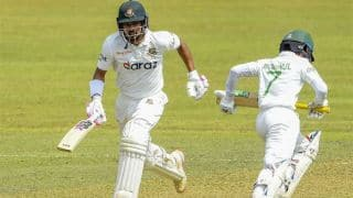 sl vs ban 1st test match day 1 report bangladesh starts solid as najmul hossain shanto hits maiden hundred