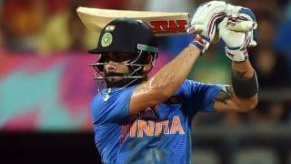 India Vs West Indies, 1st T20 International 2016: Virat Kohli dismissed for 16 by Dwayne Bravo