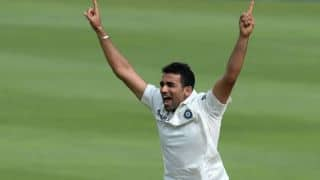 Zaheer bags 300 Test wickets with impressive comeback