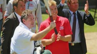 Brett Lee 'mends fences' with Piers Morgan