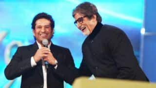 Sachin Tendulkar shares funny incident involving Amitabh Bachchan on his 75th birthday