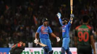 Nidahas Trophy 2018 final: Dinesh Karthik 1st Indian to slam last-ball six in T20Is in winning cause