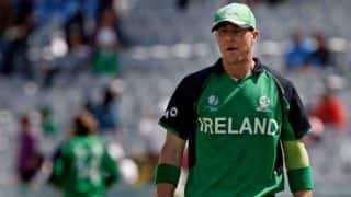 Scotland set Ireland 217 to win Match three in Dubai Triangular series