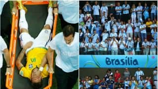 Argentina fans' reaction to Neymar's injury: Ugly incident in Football shows Cricket is a gentleman's sport, after all