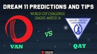 VAN vs QAT Dream11 Team Vanuatu vs Qatar, Match 14, World Cup Challenge League – Cricket Prediction Tips For Today's Match VAN vs QAT at Kuala Lumpur