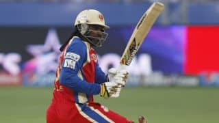 Chris Gayle dismissed in Royal Challengers vs Delhi Daredevils, IPL 2014