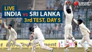Live cricket score, India vs Sri Lanka 2017-18, 3rd Test at Delhi, Day 5: India win series 1-0