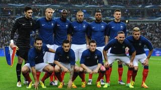Kieron Pollard roots for France at the FIFA World Cup 2014