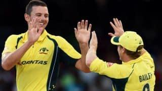 Josh Hazlewood's fifer stirs Australia to victory against West Indies in Tri-Nation Series 2016 Final