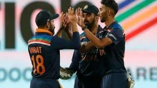 1st ODI in PICS: Debutants Krishna, Krunal Shine to Give India 1-0 Lead vs England